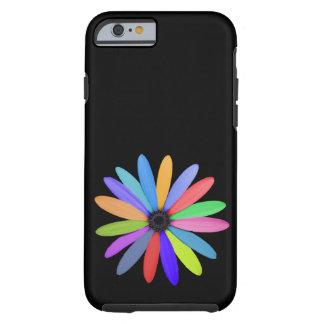 Coque iPhone 6 Tough fleur multicolore