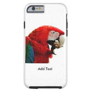 Coque iPhone 6 Tough iPhone 6/6s, cas dur de perroquet d'ara de