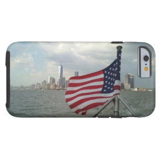 Coque iPhone 6 Tough iPhone de tour de drapeau américain et de liberté