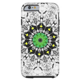 Coque iPhone 6 Tough Kaléidoscope noir et blanc