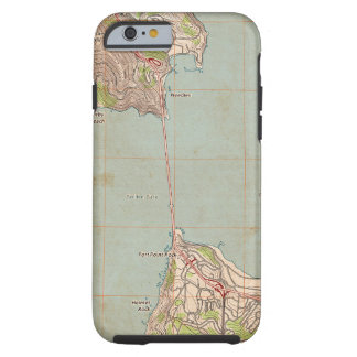 Coque iPhone 6 Tough La carte topographique de Golden Gate