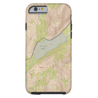 Coque iPhone 6 Tough Lac Tenaya, carte topographique de Yosemite