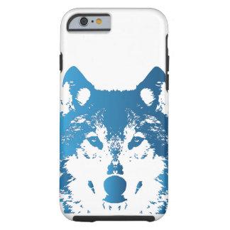 Coque iPhone 6 Tough Loup de bleu glacier d'illustration