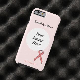 Coque iPhone 6 Tough Modèle standard rose de ruban par Kenneth Yoncich
