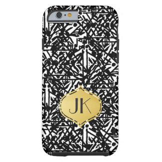 Coque iPhone 6 Tough Monogramme de Bohème chic et insouciant d'or