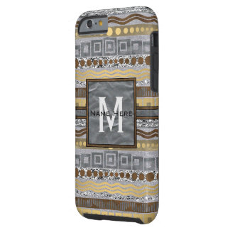 Coque iPhone 6 Tough Monogramme mélangé iphone6 Bling industriel en