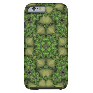 Coque iPhone 6 Tough motif vert d'abrégé sur jaune