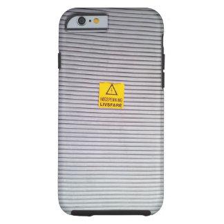 Coque iPhone 6 Tough Porte avec l'avertissement de danger dessus