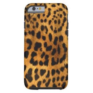 Coque iPhone 6 Tough Texture authentique de fourrure de léopard