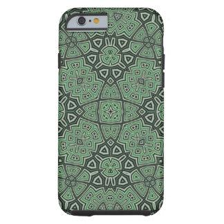 Coque iPhone 6 Tough Vert abstrait de motif