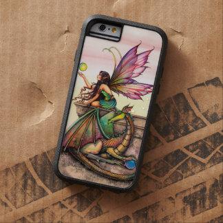 Coque iPhone 6 Tough Xtreme Art d'imaginaire de fée et de dragon des globes du