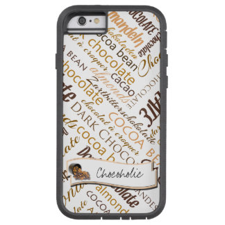 Coque iPhone 6 Tough Xtreme Chocolat, amandes et conception foncée des textes