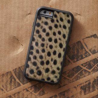 Coque iPhone 6 Tough Xtreme Fourrure de Faux repérée par guépard,