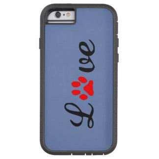 Coque iPhone 6 Tough Xtreme iPhone 6/6s, animaux familiers durs d'amour de cas