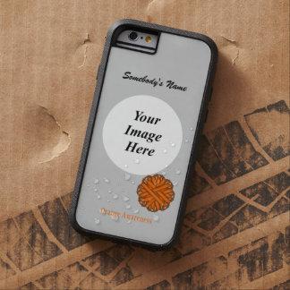 Coque iPhone 6 Tough Xtreme Modèle orange de ruban de fleur par Kenneth