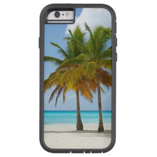 Coque iPhone 6 Tough Xtreme Paumes jumelles sur l'eau blanche de turquoise de