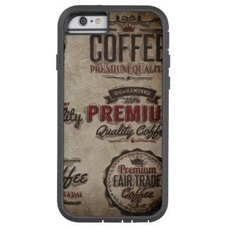 Coque iPhone 6 Tough Xtreme Rétros étiquettes de café pour des amants de café