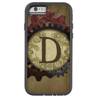 Coque iPhone 6 Tough Xtreme Steampunk grunge embraye la lettre D de monogramme