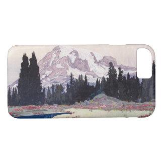 Coque iPhone 7 レーニア山, le mont Rainier, Hiroshi Yoshida, gravure