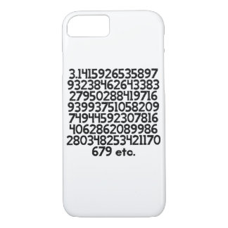 Coque iPhone 7 100 premiers nombres de pi