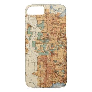 Coque iPhone 7 25 densités d'augmentation de la population, USA,
