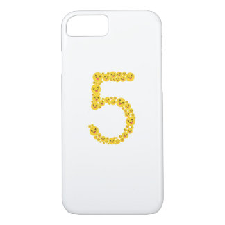 Coque iPhone 7 5ème Mignon drôle d'Emoji de l'anniversaire 2012