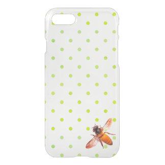 Coque iPhone 7 Abeille de miel et pois vert