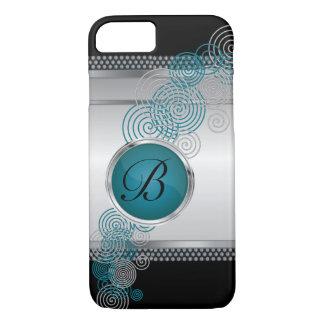 Coque iPhone 7 Acier de maille avec de l'argent et le jade