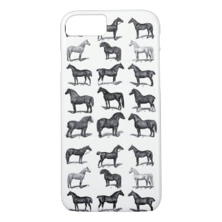 Coque iPhone 7 Affiche vintage de cheval