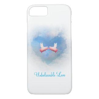 Coque iPhone 7 Amour Embrasser-Incroyable de porcs de vol