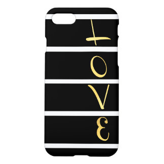 Coque iPhone 7 Amour rayé