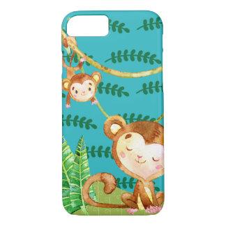 Coque iPhone 7 Amusement drôle de jungle de singe