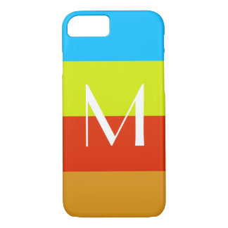 Coque iPhone 7 Amusement personnalisé d'été de monogramme