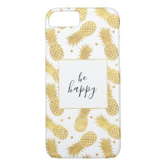 Coque iPhone 7 Ananas étincelants d'or