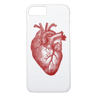 Coque iPhone 7 Anatomie vintage de coeur