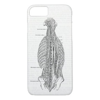 Coque iPhone 7 Anatomie vintage dessinant le dos