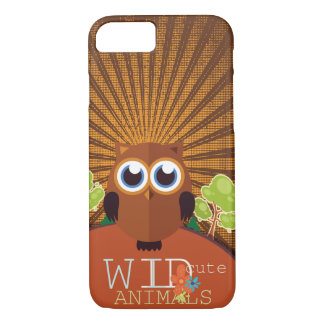 Coque iPhone 7 Animaux mignons sauvages - hibou
