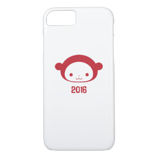 Coque iPhone 7 Année du cas 2016 de l'iPhone 6 de singe