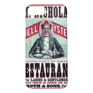 Coque iPhone 7 Annonce 1873 de restaurant de Cincinnati
