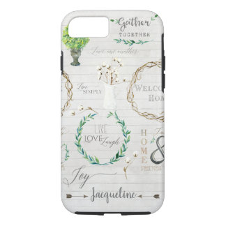 Coque iPhone 7 Aquarelle rustique de ferme de ferme de