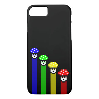 Coque iPhone 7 Arc-en-ciel de champignon