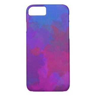Coque iPhone 7 Art abstrait d'aquarelle de peinture multicolore