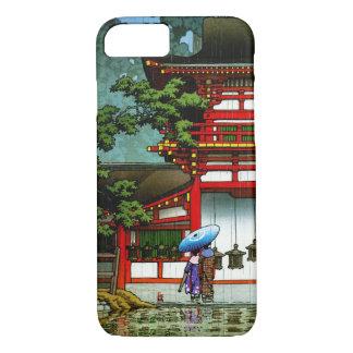 Coque iPhone 7 Art classique japonais oriental frais de pluie de