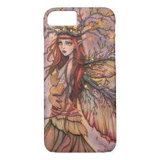 Coque iPhone 7 Art féerique d'imaginaire de la Reine d'automne