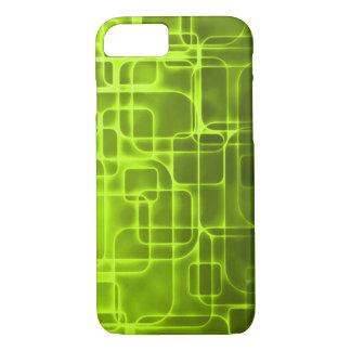 Coque iPhone 7 Art moderne de laser de jaune