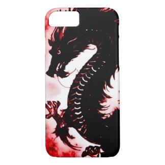 Coque iPhone 7 art Nouveau d'imaginaire de dragon du feu de