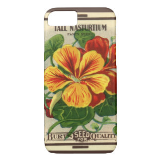 Coque iPhone 7 Art vintage d'étiquette de paquet de graine,