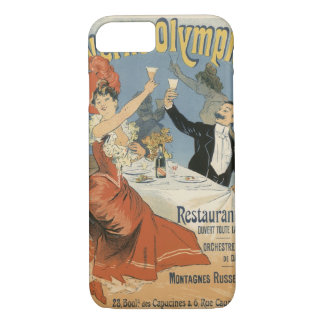 Coque iPhone 7 Art vintage Nouveau, restaurant d'Olympia de