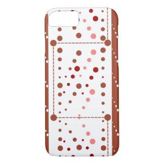 Coque iPhone 7 Baisses pointillées dans le brun