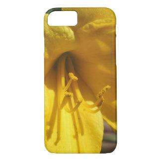 Coque iPhone 7 Barrière patinée jaune de lis